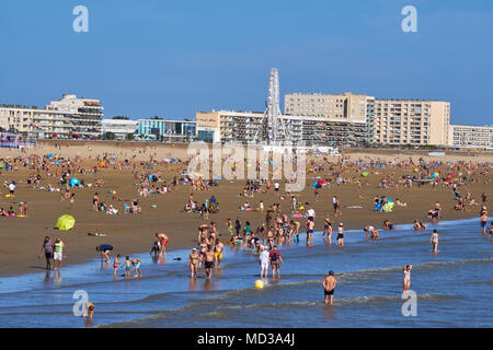 Frankreich, Vendée, Saint-Jean-de-Monts, der Strand - Stockfoto