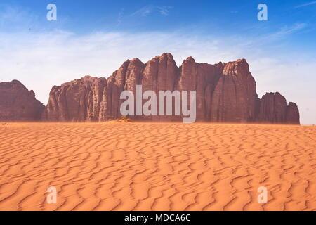 Wüste Wadi Rum, Jordanien - Stockfoto