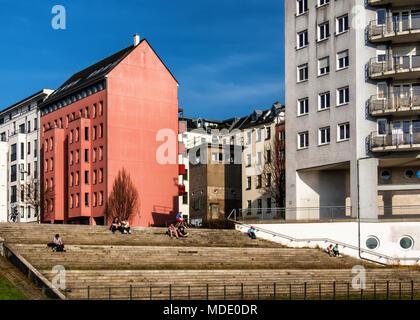 Berlin, Mitte, Günter Litfin Memorial in einem ehemaligen Post-Befehl der DDR-Grenzsoldaten neben dem Berlin-Spandau Kanal. Günter Litfinwas der erste p - Stockfoto