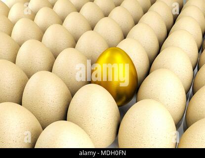 Wertvolle goldene Ei für Führung Konzept - Stockfoto