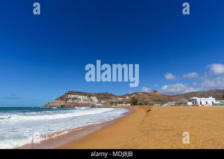 Playa de Tauro Beach in der Gemeinde von Mogan, Gran Canaria, Kanarische Inseln, Spanien - Stockfoto