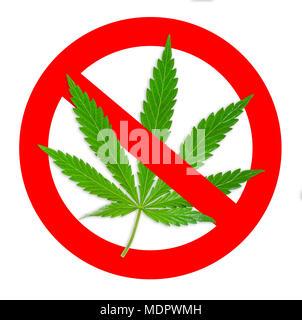 verbotsschild symbol keine cannabis vector illustration. Black Bedroom Furniture Sets. Home Design Ideas