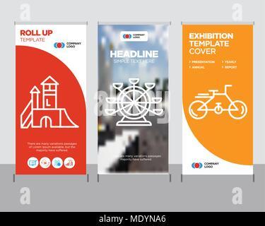 Bike modernen business Roll Up Banner Design vorlage, Monkey ...