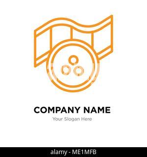 Popcorn Company Logo Design Template Business Corporate Vektor Icon