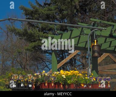 Garten Shop im Frühjahr - Stockfoto