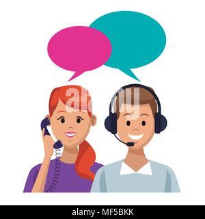 Kundendienst und Support - Stockfoto