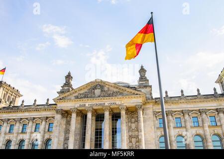 Reichstag in Berlin, Deutschland. - Stockfoto
