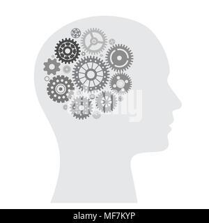 Menschliche Gehirn mit Rad Sammlung - Stockfoto