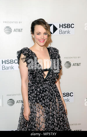 "New York, USA. 24. April 2018. Schauspielerin Rachel McAdams besucht die ""isobedience 'Premiere während des Tribeca Film Festival 2018 BMCC Tribeca PAC am 24. April 2018 in New York City. Credit: Ron Adar/Alamy leben Nachrichten - Stockfoto"