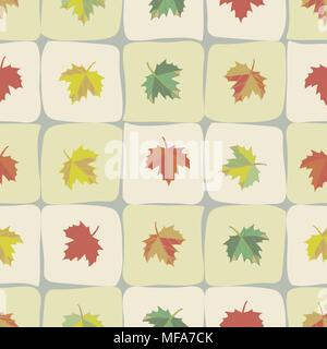 Die Fliese wiederholt mit Ahorn Blätter - Stockfoto