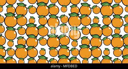 Wiederholen nahtlose Muster der hellen orange cartoon Orangen - Stockfoto