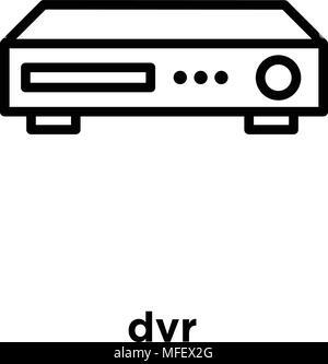 Dvr-Symbol auf weißem Hintergrund, Vector Illustration - Stockfoto
