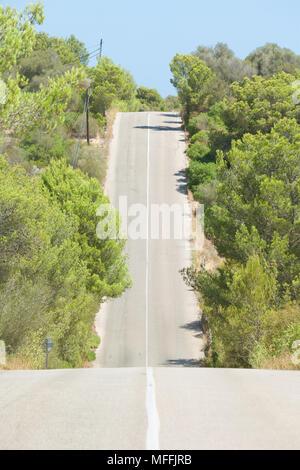 Cala Murada, Mallorca, Spanien - Fahren in die Hügel in Richtung Cala Murada - Stockfoto