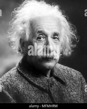 ALBERT EINSTEIN (1879-1955) Deutsch-amerikanischer theoretischer Physiker 1947 - Stockfoto