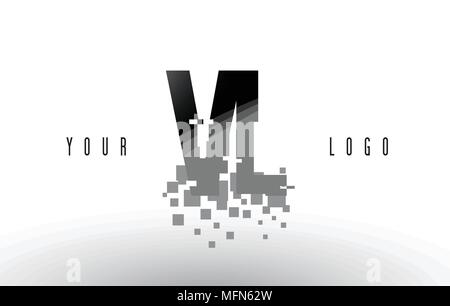 Vl V L Schreiben Modernes Logo Design Mit Swoosh Schneiden Die