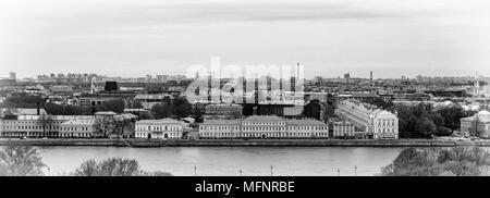 Panorama von St. Petersburg in Schwarz und Weiß, Russland - Stockfoto