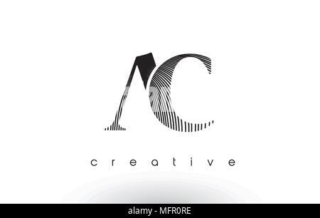 AC Schreiben Logo mit schwarzen Linien Design. Zeile schreiben ...