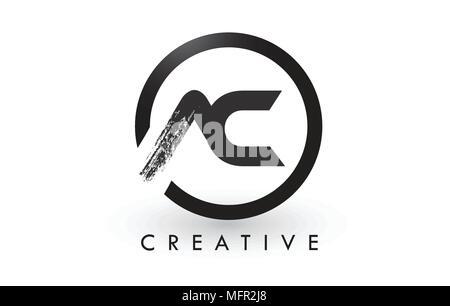 AC-Rundschreiben Logo mit Kreis Brush Design und schwarzem ...