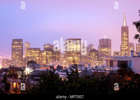 Skyline von Financial District, San Francisco, Kalifornien, USA - Stockfoto