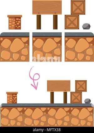 Puzzle Spiel Element auf weißem Hintergrund Abbildung - Stockfoto