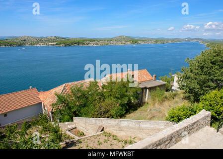 Anzeigen von SIbenik, Kroatien - Stockfoto