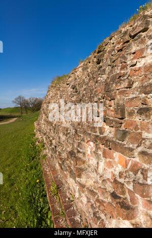 -Die Wand, über das Jahr 1060 durch König Waldemar von Dänemark, Dannewerk, Schleswig-Holstein, Deutschland, Europa gebaut - Stockfoto