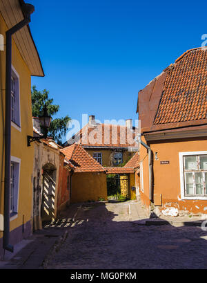 Alte Gebäude in der Altstadt von Tallinn, Estland - Stockfoto