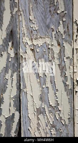 Risse abgeplatzte Farbe auf Holz - Stockfoto