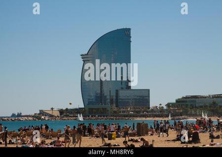 Hotel W Barcelona, Katalonien, Spanien - Stockfoto