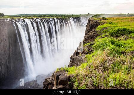 Erstaunlich, Victoria, fällt, Zambezi River, Simbabwe und Sambia - Stockfoto