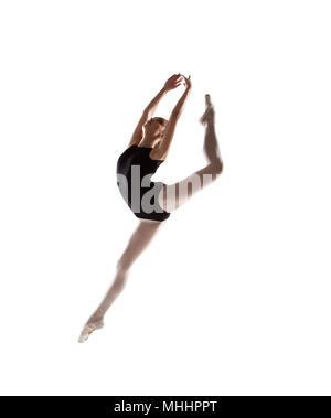 Erstaunlich Ballerina, die in der Luft schweben Tanz element - Stockfoto