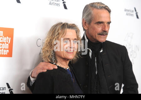 Sinead Cusack und Jeremy Irons die Teilnahme an der 45. Chaplin Award Gala in der Alice Tully Hall am 30. April 2018 in New York City. - Stockfoto