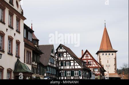Traditionelle deutsche Fachwerkhaus in Gengenbach (Baden-Württemberg) - Stockfoto