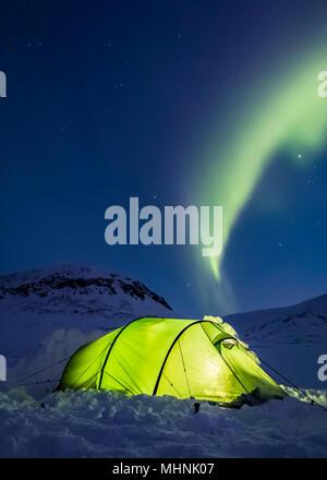 Camping in der Arktis - Stockfoto