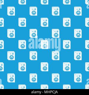 Studio Lautsprecher Muster nahtlose Vektor blau - Stockfoto
