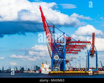 Hamburger Hafen Hafen - World Trade, internationaler Handel, der globale Handel - Stockfoto