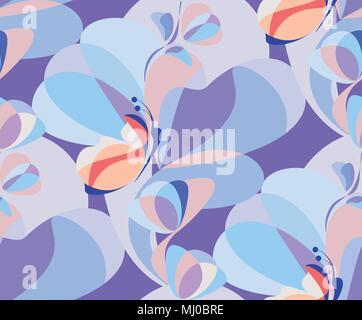 Moderne Vector Illustration von sich wiederholenden floralen Ornament. - Stockfoto