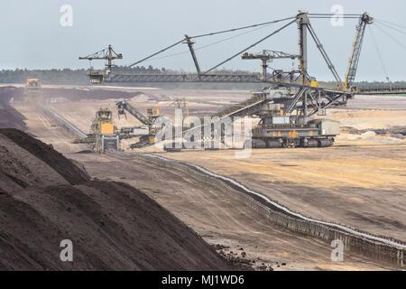 Braunkohle Tagebau in der Lausitz, Deutschland - Stockfoto