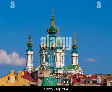 Kuppel von St. Andrew's Church - Kiew, Ukraine - Stockfoto