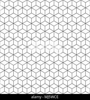 Vektor geometrische Muster Textur mit Linien. Nahtlose hexagon Hintergrund. - Stockfoto