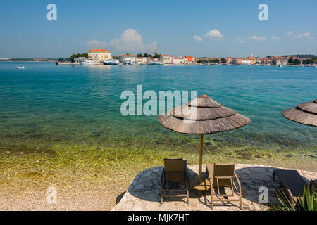 Historische istrischen Stadt Porec, Kroatien - Stockfoto