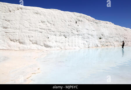 Pamukkale - Kalzium Einlagen von natürlichen Thermalquellen, Türkei