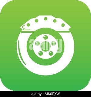 Bremsbacke Symbol grün Vektor - Stockfoto