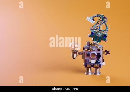 Futuristische Roboter elektrische Leitung Frisur, Plug-arm ...