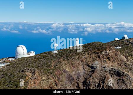 La Palma - Sternwarte auf dem Roque de Los Muchachos - Stockfoto