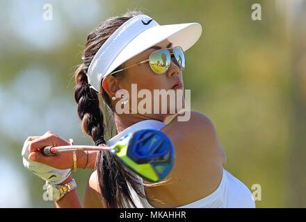 Rancho Mirage, Kalifornien, USA. 2. April 2016. Michelle Wie trifft ein Schuss in der dritten Runde der 2016 ANA Inspiration im Mission Hills Country Club in Rancho Mirage, Kalifornien. Charles Baus/CSM/Alamy Live-Nachrichten - Stockfoto