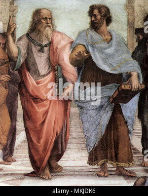 Schule von Athen, Platon und Aristoteles 1520 - Stockfoto