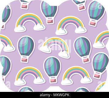 wei e silhouette der hei luftballon auf pastell rosa hintergrund fliegen sie weg text unten. Black Bedroom Furniture Sets. Home Design Ideas