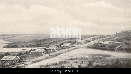 Ausblick auf 1622 Plymouth. - Stockfoto