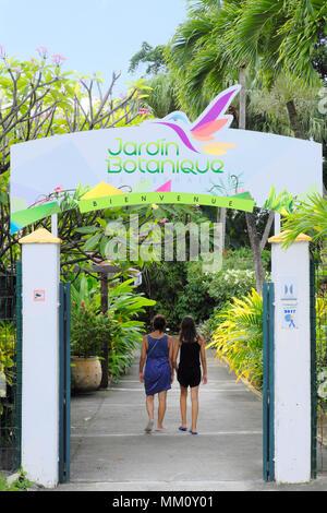 Guadeloupe, Basse-Terre. Botanischer Garten von Deshaies ...